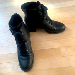 Size 10 Leather Boots from Aldo